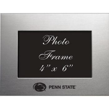 Pennsylvania State University - 4x6 Brushed Metal Picture Frame - Silver