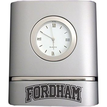 Fordham University- Two-Toned Desk Clock -Silver