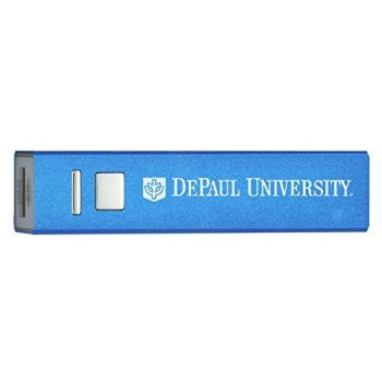 DePaul University - Portable Cell Phone 2600 mAh Power Bank Charger - Blue