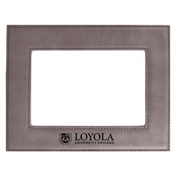 Loyola University Chicago-Velour Picture Frame 4x6-Grey