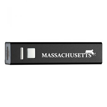 Massachusetts-State Outline-Portable 2600 mAh Cell Phone Charger-