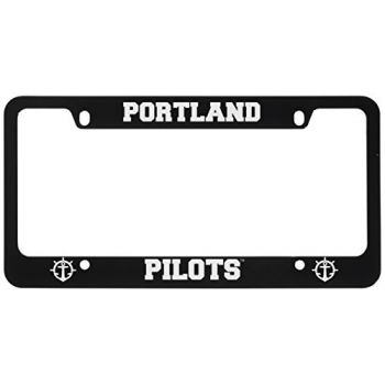 The University of Portland-Metal License Plate Frame-Black