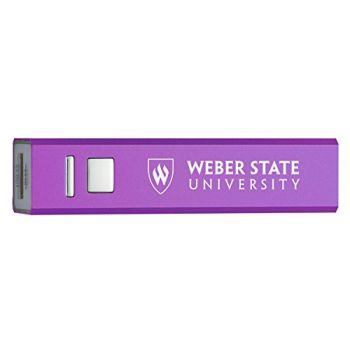 Weber State University - Portable Cell Phone 2600 mAh Power Bank Charger - Purple
