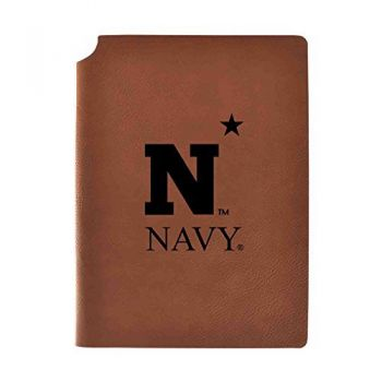United States Naval Academy Velour Journal with Pen Holder|Carbon Etched|Officially Licensed Collegiate Journal|