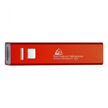 Southeast Missouri State University - Portable Cell Phone 2600 mAh Power Bank Charger - Red