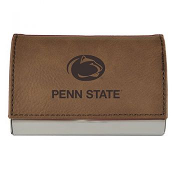 Velour Business Cardholder-The Pennsylvania State University-Brown