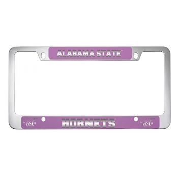 Alabama State University -Metal License Plate Frame-Pink