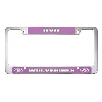 Utah Valley University -Metal License Plate Frame-Pink