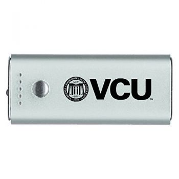 Virginia Commonwealth University-Portable Cell Phone 5200 mAh Power Bank Charger -Silver