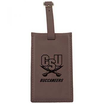 Charleston Southern University -Leatherette Luggage Tag-Brown