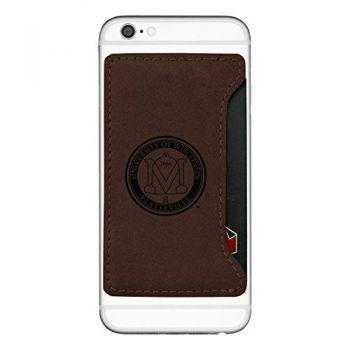 University of Wisconsin-Platteville-Cell Phone Card Holder-Brown