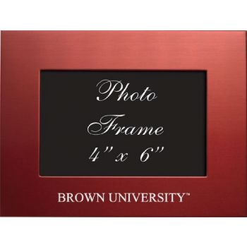 Brown University - 4x6 Brushed Metal Picture Frame - Red