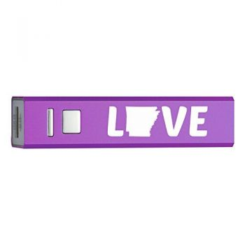Arkansas-State Outline-Love-Portable 2600 mAh Cell Phone Charger-