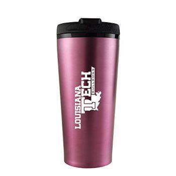 Louisiana Tech University -16 oz. Travel Mug Tumbler-Pink