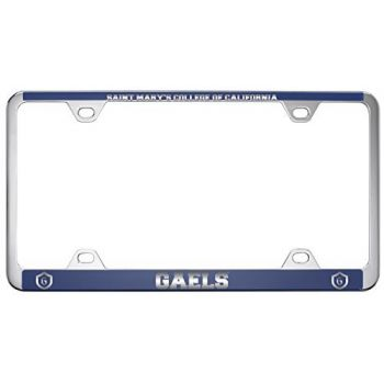 Saint Mary's College of California -Metal License Plate Frame-Blue