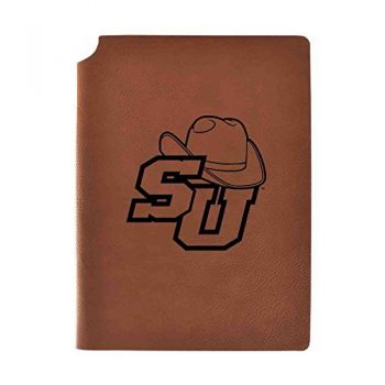 Stetson University Velour Journal with Pen Holder|Carbon Etched|Officially Licensed Collegiate Journal|