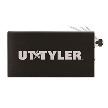 8000 mAh Portable Cell Phone Charger-University of Texas at Tyler-Black