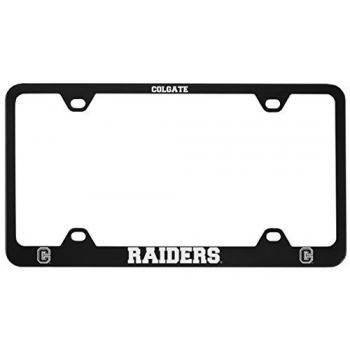 Colgate University -Metal License Plate Frame-Black