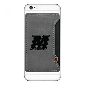 Monmouth University-Cell Phone Card Holder-Grey