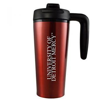 University of Detroit Mercy-16 oz. Travel Mug Tumbler with Handle-Red