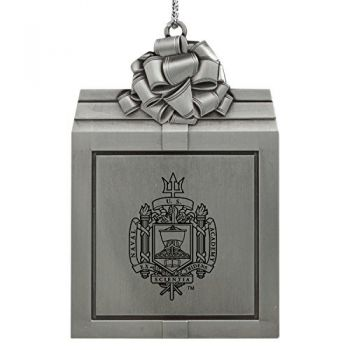 United States Naval Academy -Pewter Christmas Holiday Present Ornament-Silver