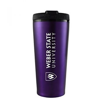 Weber State University -16 oz. Travel Mug Tumbler-Purple