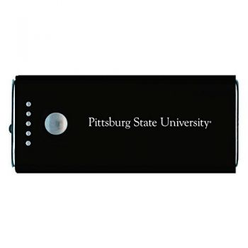 Pittsburg State University -Portable Cell Phone 5200 mAh Power Bank Charger -Black