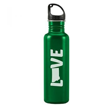 Montana-State Outline-Love-24-ounce Sport Water Bottle-Green