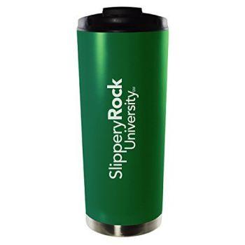 Slippery Rock University of Pennsylvania-16oz. Stainless Steel Vacuum Insulated Travel Mug Tumbler-Green