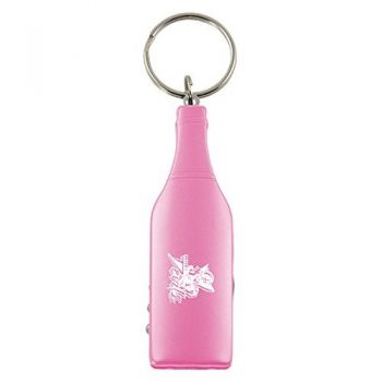 Mississippi Valley State University-Wine Shaped Bottle Opener-Pink