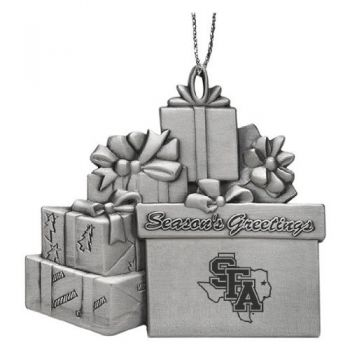 Stephen F. Austin State University - Pewter Gift Package Ornament