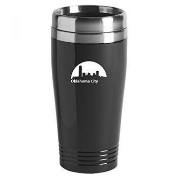 Oklahoma City, Oklahoma-Travel Mug Tumbler-Black