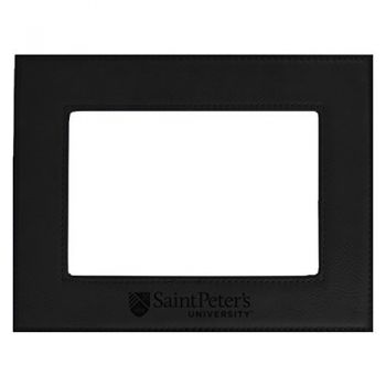 Saint Peter's University-Velour Picture Frame 4x6-Black