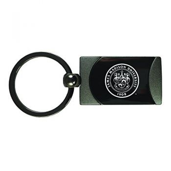 James Madison University-Two-Toned Gun Metal Key Tag-Gunmetal