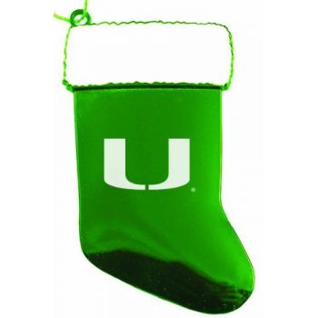 University of Miami - Christmas Holiday Stocking Ornament - Green