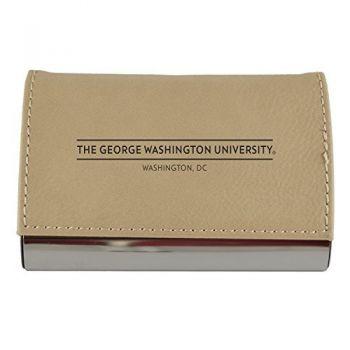 Velour Business Cardholder-George Washington University-Tan