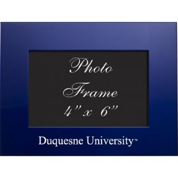 Duquesne University - 4x6 Brushed Metal Picture Frame - Blue