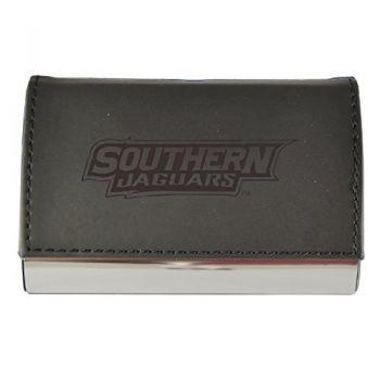 Velour Business Cardholder-Southern University-Black