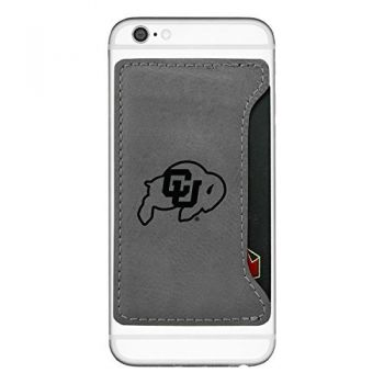 University of Colorado-Cell Phone Card Holder-Grey