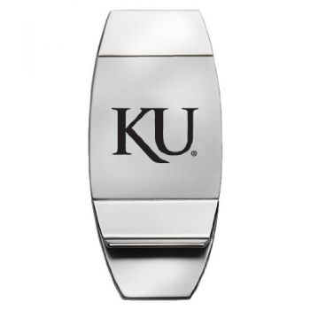 University of Kansas - Two-Toned Money Clip - Silver