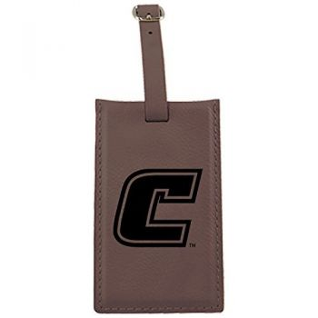 University of Tennessee at Chattanooga-Leatherette Luggage Tag-Brown
