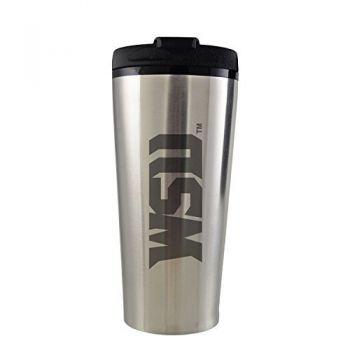 Wright State university -16 oz. Travel Mug Tumbler-Silver