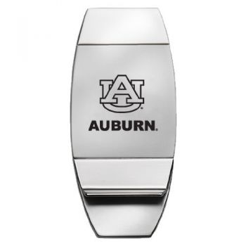 Auburn University - Two-Toned Money Clip - Silver