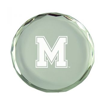 University of Memphis-Crystal Paper Weight
