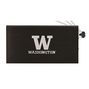 8000 mAh Portable Cell Phone Charger-University of Washington-Black