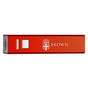 Brown University - Portable Cell Phone 2600 mAh Power Bank Charger - Red