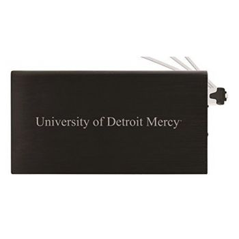 8000 mAh Portable Cell Phone Charger-University of Detroit Mercy-Black