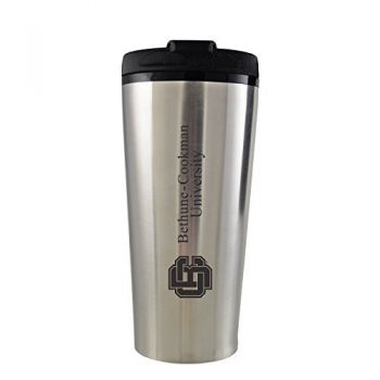 Bethune-Cookman University-16 oz. Travel Mug Tumbler-Silver