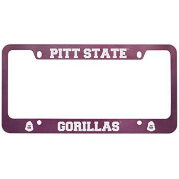 Pittsburg State University -Metal License Plate Frame-Pink