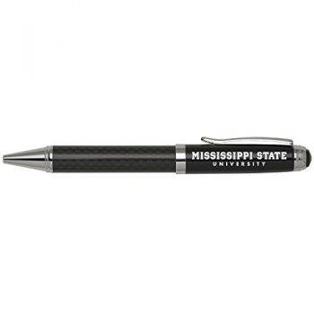 Mississippi State University -Carbon Fiber Ballpoint Pen-Black